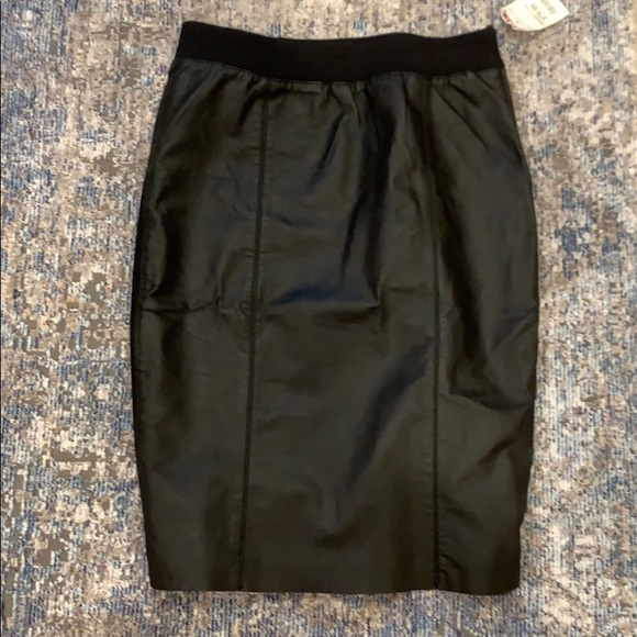 Coster Copenhagen Black leather pencil skirt NWT 6 NWT